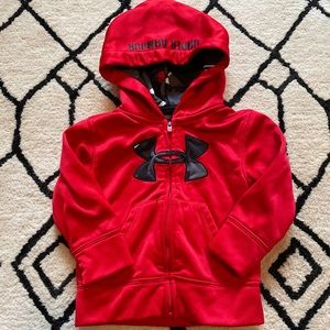 Under Armour Baby Boys Red Gray Camo Zip Up